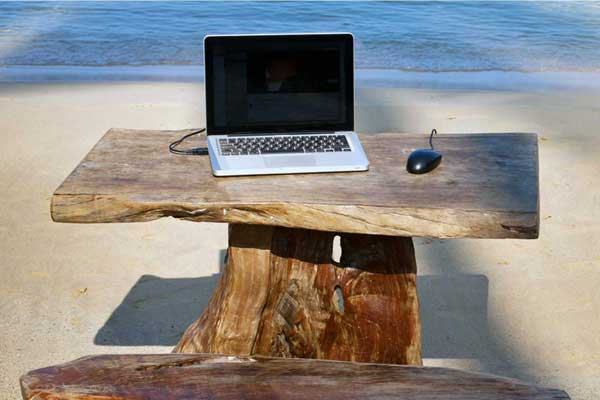 freelance plage macbook